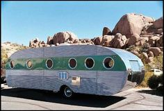 1950 Airfloat Land Yacht Trailer for sale by Mecum Auction Old Campers, Vintage Campers Trailers, Retro Campers, Vintage Caravans, Camper Trailers, Airstream, Camping Trailer For Sale, Classic Campers, Classic Trailers