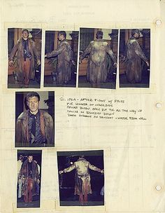A page from costume designer Charles Knode's personal Blade Runner production bible and script.