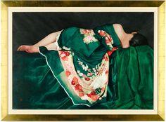 Recline in Green Kimono (via @1stdibs)
