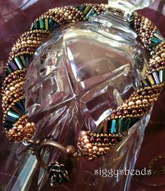 Russian Spiral beaded bracelet Queen Elizabeth by siggysbeads, $32.00