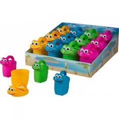 farbige Giesskanne für Kinder mit Gesicht Rubber Duck, Toys, Sandbox, Bucket, Rolling Stock, Face, Activity Toys, Toy