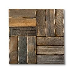 Parquet Pattern Reclaimed Barnwood Tiles - Natural   Shop at the Foundary