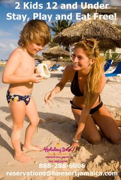 Kids Stay, Play and Eat Free all year round!  www.caribbeanhi.com/jamaica. #HolidayInnResortJamaica #Jamaica #TravelTuesday #Summer #Vacation #Family #Travel.