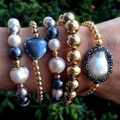 Set By Vila Veloni Special Mallorca Pearls Bracelets