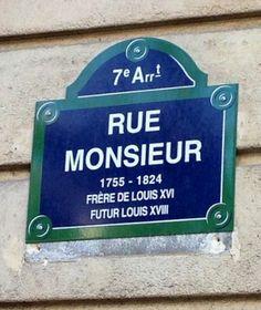 La rue Monsieur  (Paris 7ème)