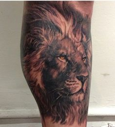 Lion, realistic tattoos of CarlosTorresArt.com