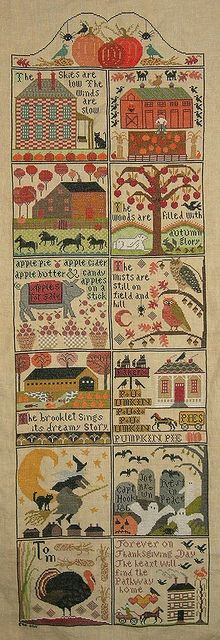 Autumn at Hawk Run Hollow (Carriage House Samplings)...someday I want yo stitch this wonderful autumn chart!