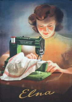 Trendy Ideas For Sewing Machine Retro Sweets Sewing Art, Sewing Rooms, Love Sewing, Sewing Crafts, Sewing Projects, Images Vintage, Vintage Pictures, Antique Sewing Machines, Vintage Sewing Patterns