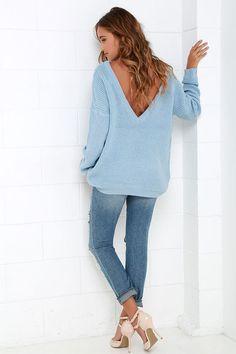 Island Ferry Light Blue Sweater at Lulus.com!