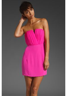 This hot pink dress - fabulous.   Perfect for bridal showers, birthdays, dinners, loving the summer color.