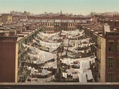Monday, washing day. New York 1900