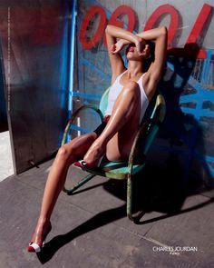 Amanda Pizziconi by Mark Hanauer for Charles Jourdan F/W 09