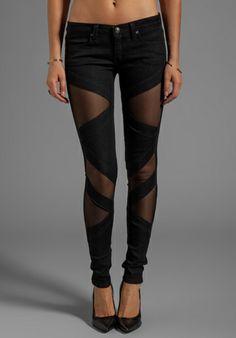 Frankie B. Jeans Bondage Skinny in Black