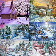 Counted Cross Stitch Kits Christmas Snow Landscapes villages, churches NEW GIFT