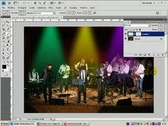 Photoshop - fasci di luce colorata - tutorial italiano