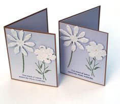 Flower note cards Lavender Seeded paper by ThePurpleTable on Etsy, $6.00