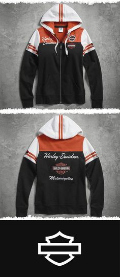 A classic stands the test of time.   Harley-Davidson Women's Classic Colorblock Hoodie
