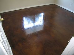 Concrete stain for garage floor