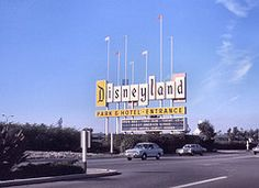 Disneyland sign, Harbor Blvd, Anaheim, 1974 (Orange County Archives) Tags: california history disneyland historical matterhorn southerncalifornia orangecounty 1970s yesterland americasings orangecountyarchives orangecountyhistory vision:mountain=0544 vision:outdoor=099 vision:sky=0868 vision:car=0581 vision:clouds=065 wernerweiss