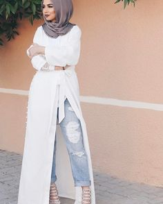 Hijab trend spring fashion – Just Trendy Girls - Prom Dresses Design Islamic Fashion, Muslim Fashion, Modest Fashion, Dubai Fashion, Abaya Fashion, Runway Fashion, Modest Wear, Modest Dresses, Maxi Dresses
