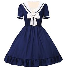 Partiss Women's Chiffon Short Sleeves Sailor Collar Ruffl... http://www.amazon.com/dp/B01CS7RR5S/ref=cm_sw_r_pi_dp_iyakxb01BBK66
