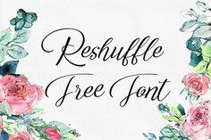 DLOLLEYS HELP: Reshuffle Script Free Font