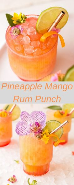 Pineapple Mango Rum Punch – Amazing World Food and Recipes Summer Drinks, Fun Drinks, Healthy Drinks, Party Drinks, Healthy Nutrition, Mixed Drinks, Healthy Eating, Healthy Recipes, Alcholic Drinks
