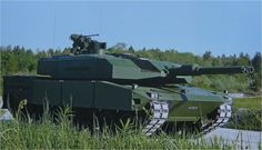The 'up' armoured Leopard 2 Main Battle Tank. Because allegedly kick arse wasn't good enough.