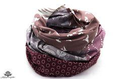 Tuch lila violett beige von #Lieblingsmanufaktur: Patchwork-Tücher