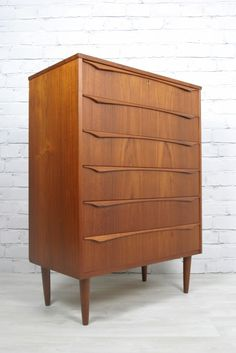 Vintage 1960s Danish Teak tallboy chest of drawers. http://www.ebay.co.uk/itm/RETRO-VINTAGE-DANISH-TEAK-MIDCENTURY-CHEST-DRAWERS-TALLBOY-EAMES-ERA-50s-60s-/230743716311?pt=UK_Bedroom_Furniture&hash=item35b965b1d7 https://www.facebook.com/mustardvintage