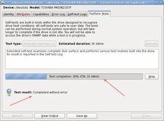 Smartctl: Perform hard disk health test