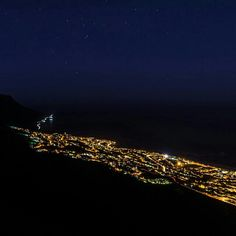The Cape, lit up at night
