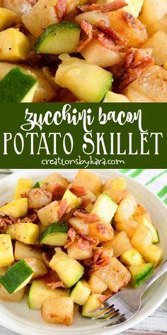 Yellow Squash Recipes With Bacon, Squash Zucchini Recipes, Bacon Zucchini, Yellow Squash And Zucchini, Bacon Potato, Recipe Zucchini, Cucumber Recipes, Bacon Recipes, Grilling Recipes