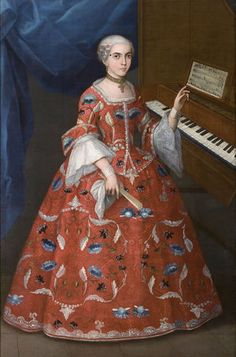 Portrait of a Young Woman with a Harpsichord, Mexico, early 18th century, oil on canvas; Denver Art Museum, gift of Frederick and Jan Mayer, 3.2007; photo courtesy Denver Art Museum