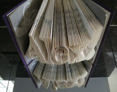 Folded book art-custom-recycled book-upcycled book-childrens book-book sculpture-nursery gift