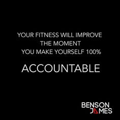 You are 100% accountable for your own #Health and #Fitness. It really is that simple I am afraid. Don't get Me wrong. Others can have an influence on how far you can get to. They can have an effect on your free time your financial situation your access to certain resources and facilities.  However! the fact is this. Whatever your limitations whether physical mental financial or other. It is YOU and YOU only that is 100% accountable for how you make the most of your situation to be the best…