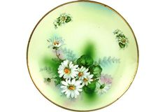 Prince Regent Bavaria Plate w/ Enameled Daisy Decoration by Ruby + George on @One Kings Lane