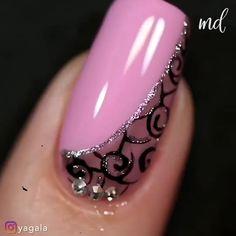 Nail Art Hacks, Nail Art Diy, Diy Nails, New Nail Art Design, Nail Design Video, Nail Art Designs Videos, Nail Art Videos, Stylish Nails, Trendy Nails