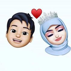 Cute Emoji Wallpaper, Cute Cartoon Wallpapers, Cartoon Pics, Cartoon Art, Love Cartoon Couple, Cute Couple Art, Cute Love Cartoons, Cute Muslim Couples, Cute Couples