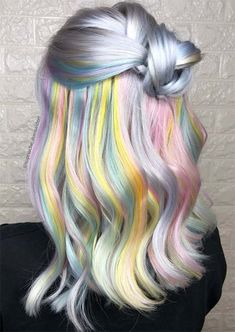 Top Hairstyles, Spring Hairstyles, Pretty Hairstyles, Pastel Ombre, Dyed Hair Pastel, Creative Hair Color, Cool Hair Color, Hair Colors, Pastel Hair