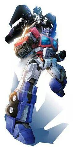 Optimus Prime G1 and Optimus Prime TF4