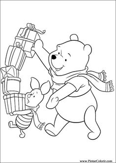 66 Christmas Friends printable coloring pages for kids. Find on coloring-book thousands of coloring pages. Coloring Pages For Boys, Coloring Book Pages, Printable Coloring Pages, Winnie The Pooh Christmas, Disney Christmas, Christmas Gifts, Disney Coloring Sheets, Adult Coloring, Gata Marie