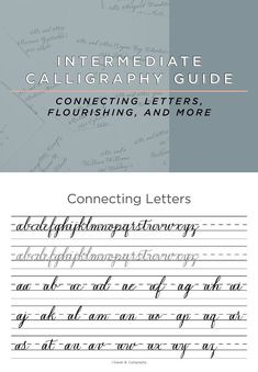 Intermediate Calligraphy Guide Calligraphy For Beginners, Calligraphy Alphabet, Custom Fonts, Script Fonts, I Need You, Try On, Letters, Need You, Fonts