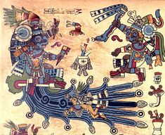 Tlaloc Seated on a Mountain Issuing Water, Codex Borbonicus