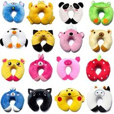 Baby Kid Toddler Car Seat Travel Neck Saver Protector Head Support Animal Pillow