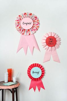 DIY Giant Prize Ribbons   Oh Happy Day!