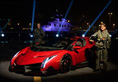 What's cooler than a Lamborghini Veneno Roadster on the road? A #Lamborghini Veneno Roadster on an aircraft carrier with #fighterjets, obviously! Hit the pic to find out more...