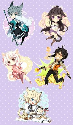 Chibi commission batch 31 by inma on deviantART