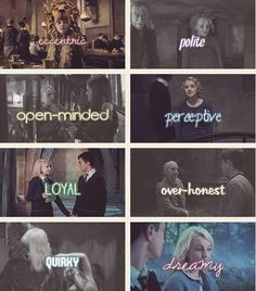 The Qualities of Luna! :) <3 I love Luna so much. She's my favorite character outside the Trio.