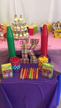 Krys's crayola birthday party! | CatchMyParty.com